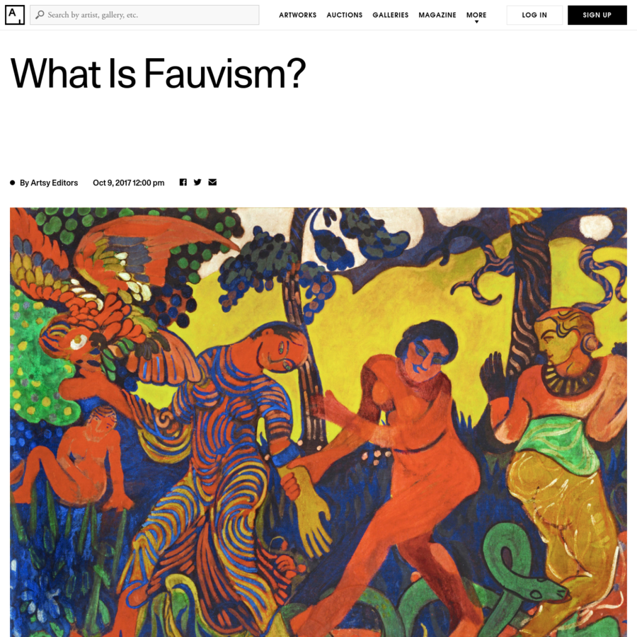 "Though influential, Fauvism was a short-lived movement. Its assault on stylistic conventions soon became a convention of its own. By 1907, the word ""fauves"" had entered common usage in the Parisian art scene. Scores of artists branded themselves as aligned with the movement, diluting its once provocative aims. Moreover, the Fauvist artists met challenges from newcomers."