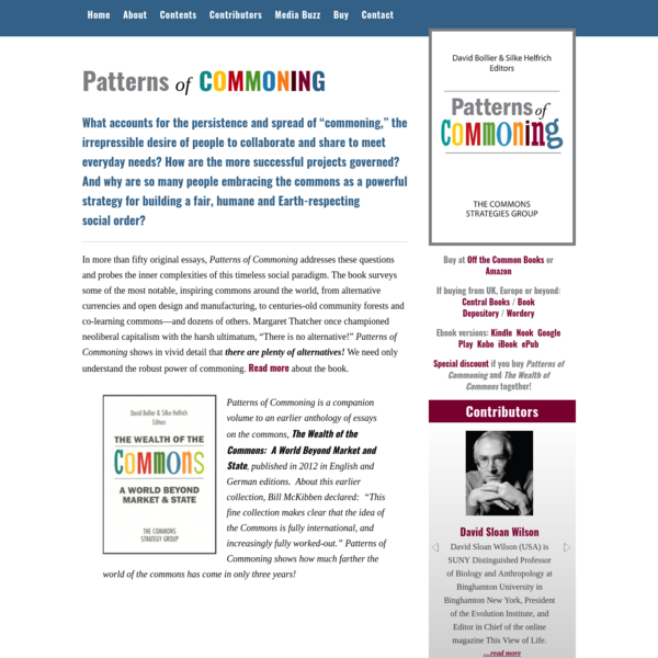 Patterns of Commoning | The Commons Strategies Group
