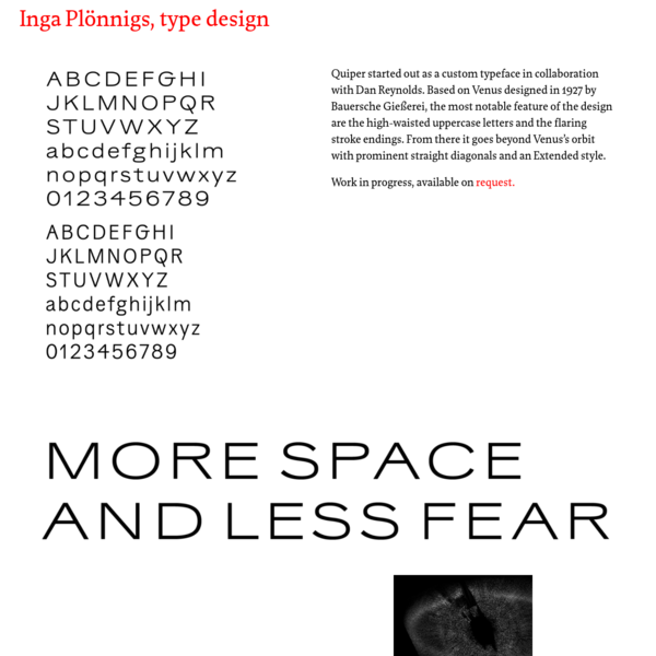 Quiper - More Space and Less Fear - A Tribute to Venus
