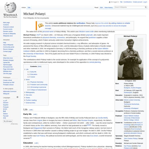 Michael Polanyi - Wikipedia