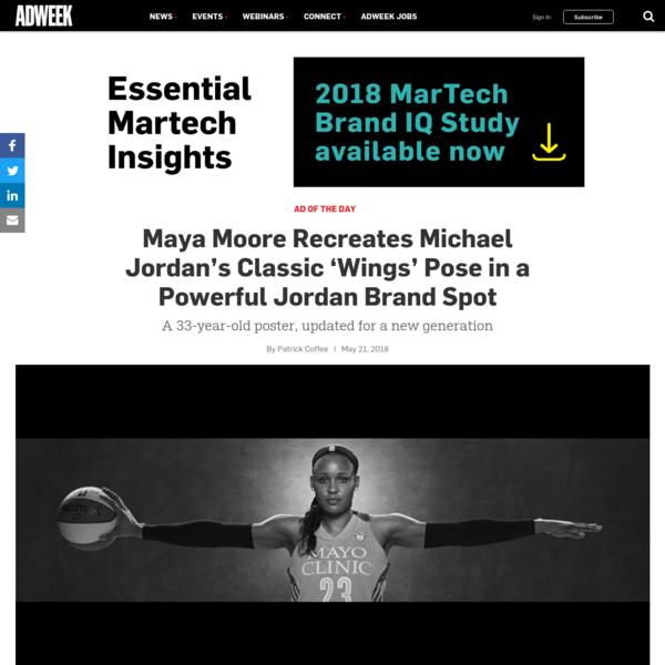 Maya Moore Recreates Michael Jordan's Classic 'Wings' Pose in a Powerful Jordan Brand Spot