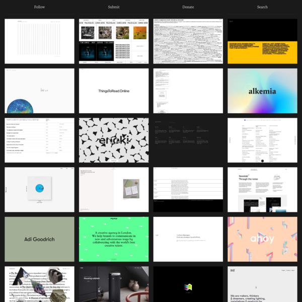 A curated collection of minimal websites. Updated (almost) daily by @manuelmoreale.