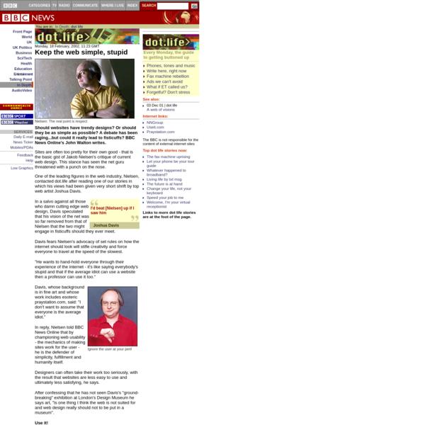 BBC News | DOT LIFE | Keep the web simple, stupid