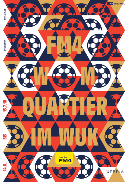 Radio FM4 WM–Quartier Poster