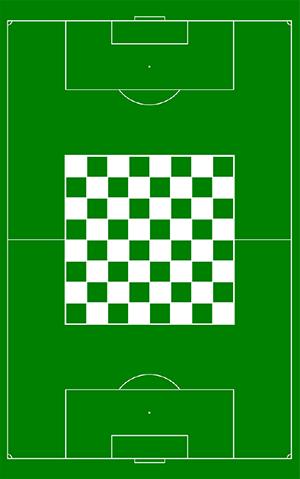 """Delaware, """"Chess Soccer"""", _256 Delaware Mail Magazine #188_ (2018)."""