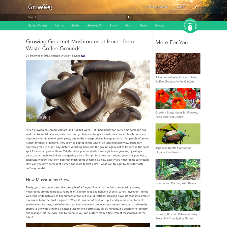 """written by Adam Sayner """"Tried growing mushrooms before, and it didn't work"""" - if I had money for every time someone has said that to me I'd be a very rich man...and probably no longer a mushroom farmer! Mushrooms are notoriously unreliable to grow, partly due to the mass-produced low quality kits that people often try."""