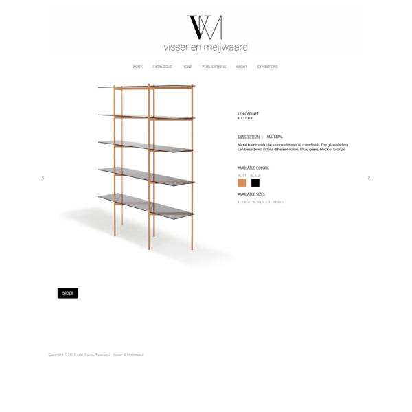 LYN harmonica cabinet : Visser & Meijwaard