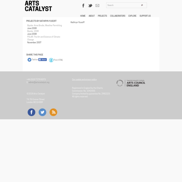 ©2018 Arts Catalyst 74-76 Cromer Street London WC1H 8DR