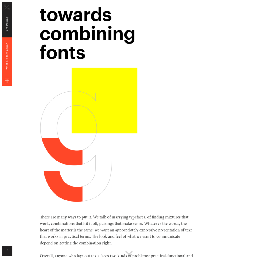"""R/m Design Almanac is a series of educational projects about design, a constantly expanding """"design primer"""", covering such fundamental concepts as typography, color, grids and layout."""
