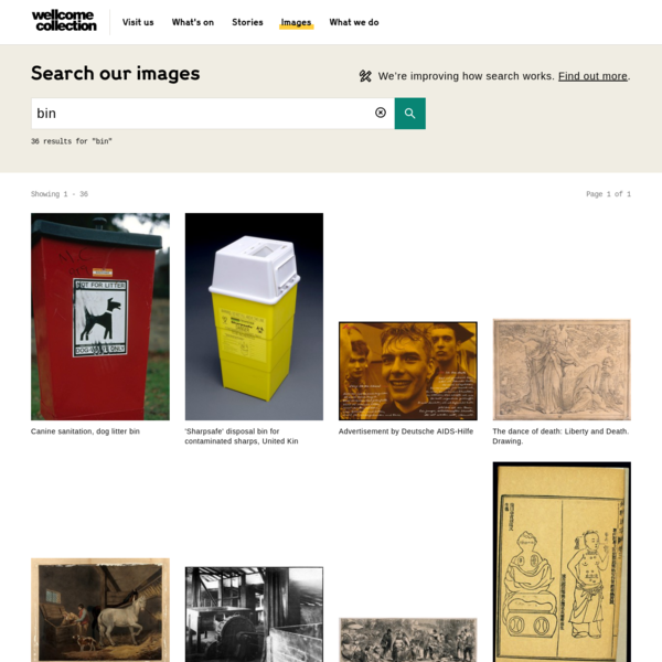 Wellcome Collection search