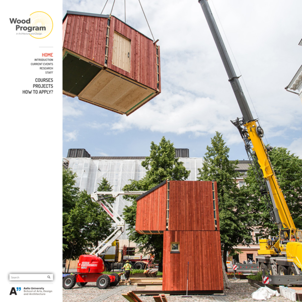 Wood Program at Aalto University Department of Architecture