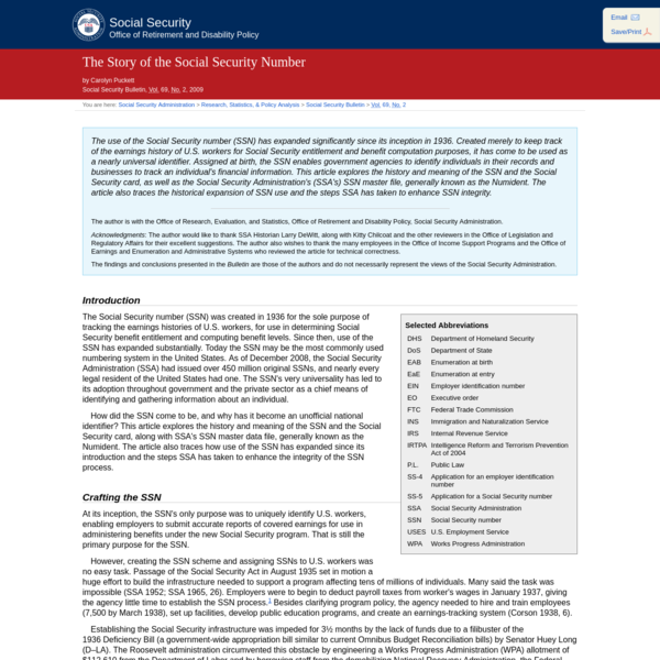 Social Security Administration Research, Statistics, and Policy Analysis