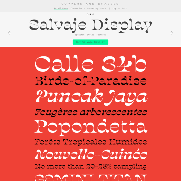 Salvaje Display | Coppers and Brasses