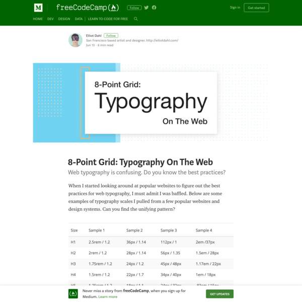 8-Point Grid: Typography On The Web - freeCodeCamp