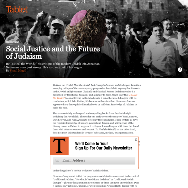 Social Justice and the Future of Judaism - Tablet Magazine