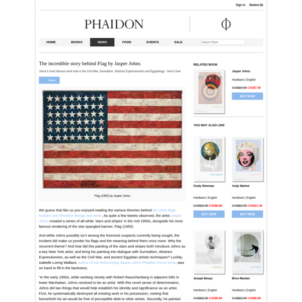 The incredible story behind Flag by Jasper Johns | Art | Agenda | Phaidon