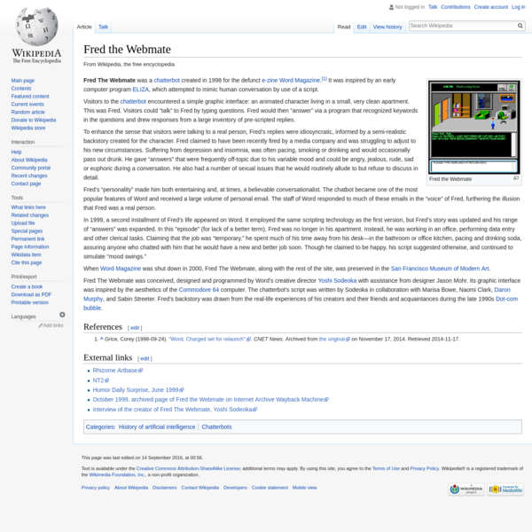 Fred the Webmate - Wikipedia