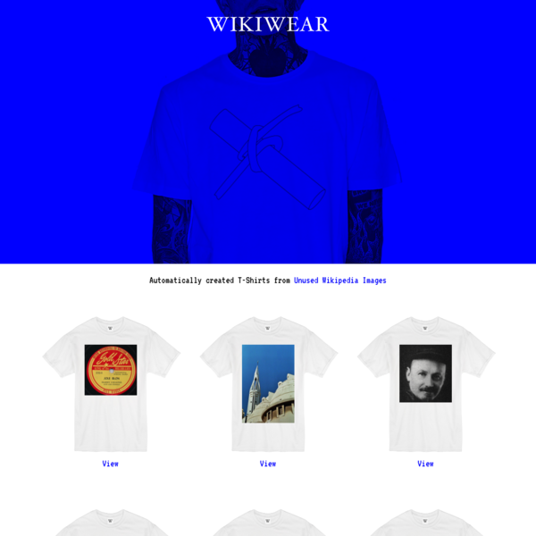 Automatically created T-Shirts from Unused Wikipedia Images