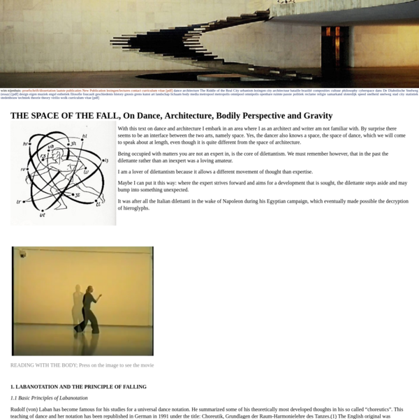 wim nijenhuis - THE SPACE OF THE FALL, On Dance, Architecture, Bodily Perspective and Gravity
