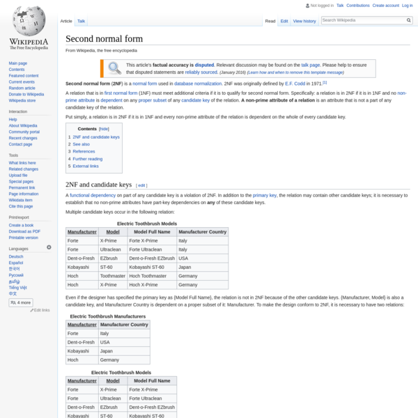Second normal form - Wikipedia
