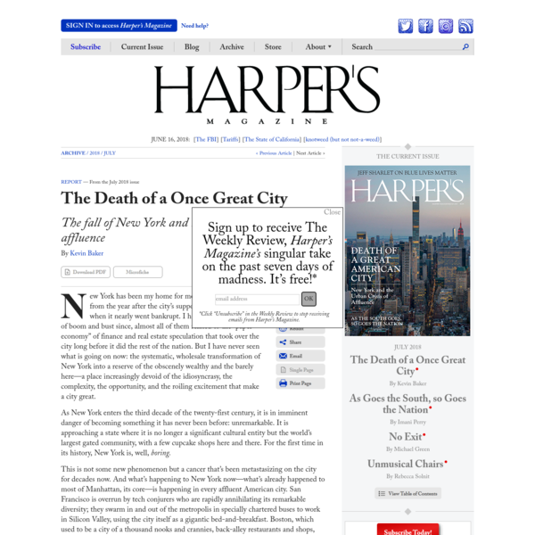 The Death of a Once Great City   Harper's Magazine