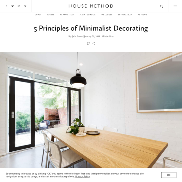 5 Principles of Minimalist Decorating | House Method
