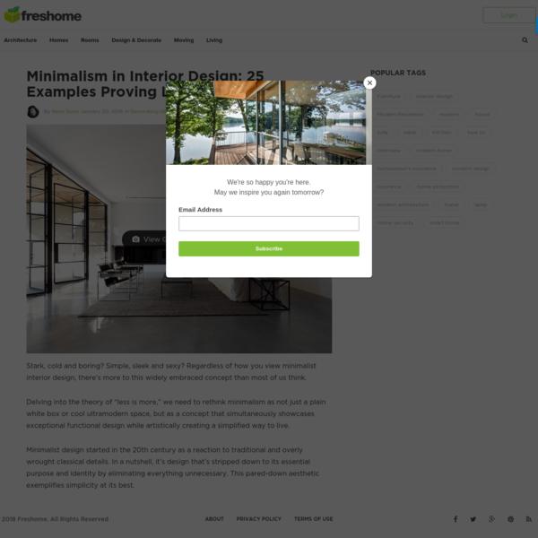 25 Examples of Minimalism in Interior Design - Freshome
