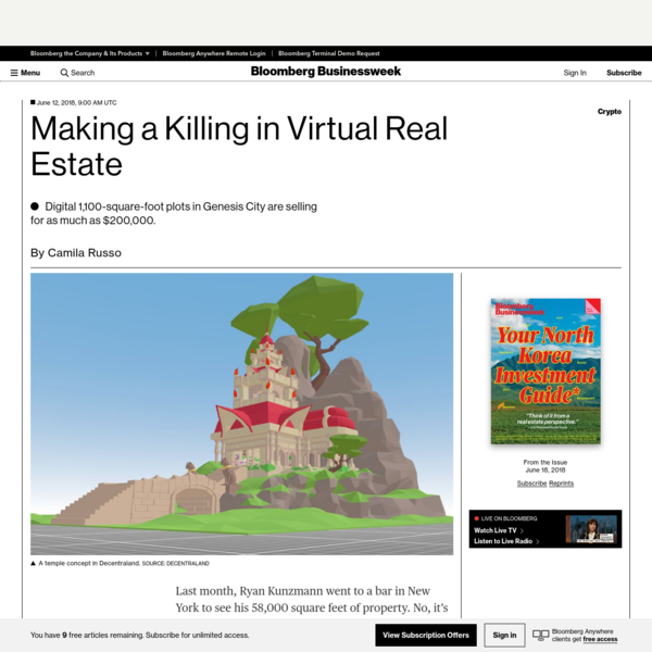 Making a Killing in Virtual Real Estate