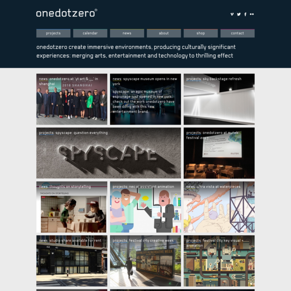onedotzero create distinctive events, producing culturally significant experiences: merging arts, entertainment and technology to thrilling effect