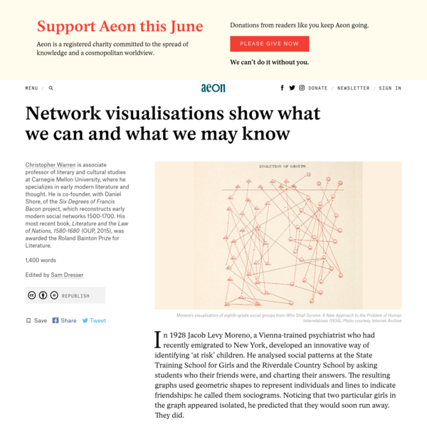Network visualisations show what we can and what we may know - Christopher Warren | Aeon Ideas