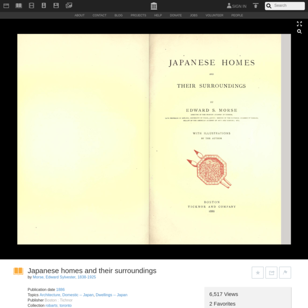 Japanese homes and their surroundings : Morse, Edward Sylvester, 1838-1925 : Free Download, Borrow, and Streaming : Internet...