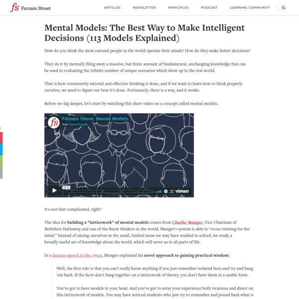 Mental Models: The Best Way to Make Intelligent Decisions (113 Models Explained)
