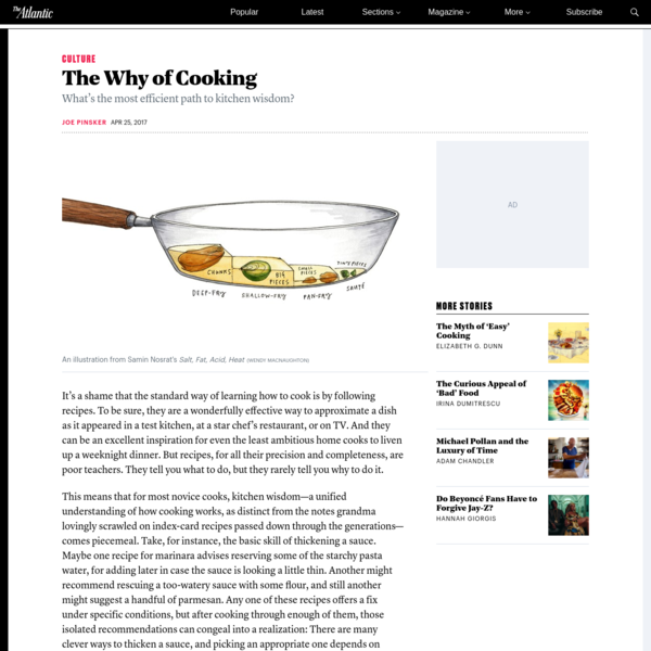 What's the most efficient path to kitchen wisdom? It's a shame that the standard way of learning how to cook is by following recipes. To be sure, they are a wonderfully effective way to approximate a dish as it appeared in a test kitchen, at a star chef's restaurant, or on TV.