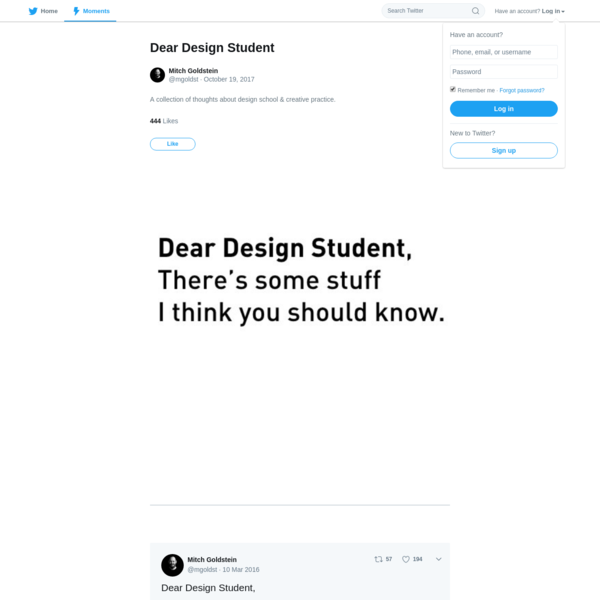 A collection of thoughts about design school & creative practice.