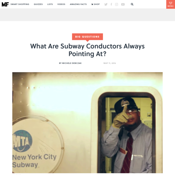What Are Subway Conductors Always Pointing At?