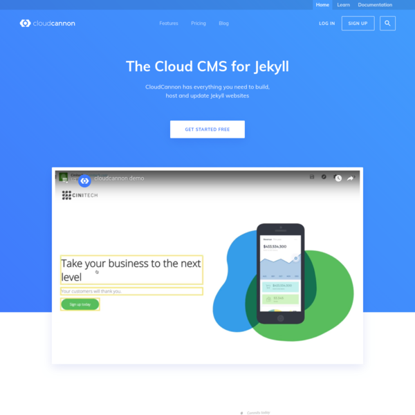 CloudCannon has everything you need to build, host and update Jekyll websites.