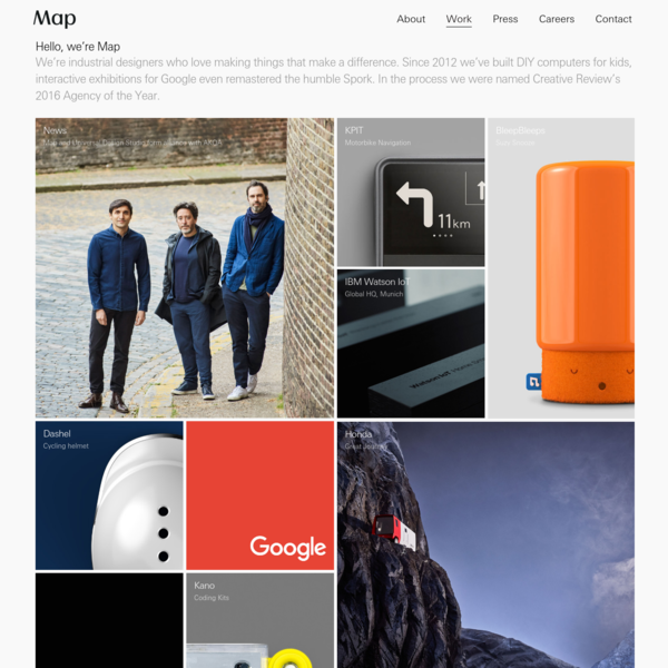 Map is a strategy-based industrial design consultancy founded in 2012 by Edward Barber and Jay Osgerby with Design Director Jon Marshall.