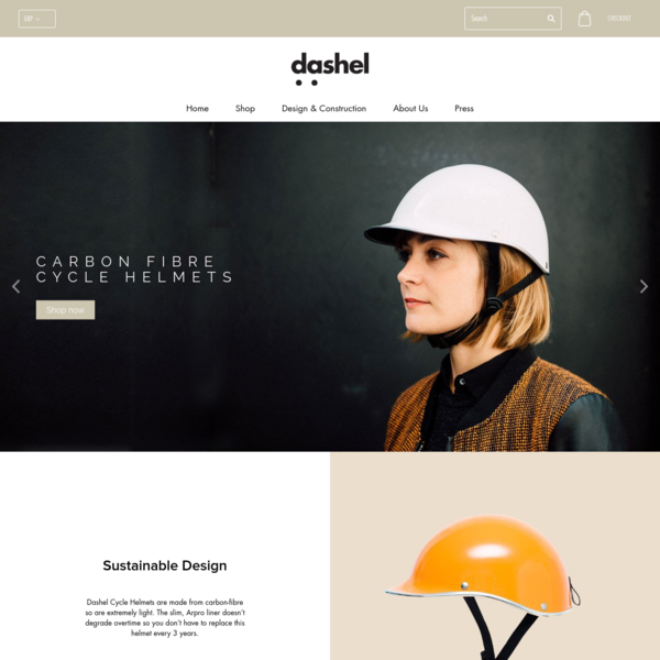 Dashel Cycle helmets have a unique style and look. The liner is slim yet safe and is encased in a light carbon-fibre shell. Made in England, built to last.