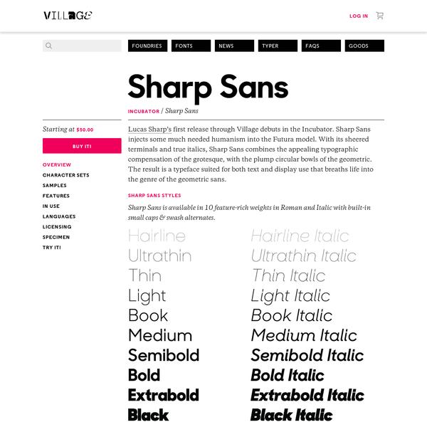 Favorite Typefaces: Sans-Serif
