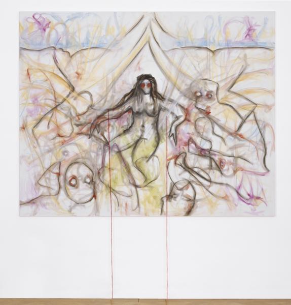 """Jutta Koether """"Eternal Feminine (Hysterisch, Metallisch, Weiblich - nach Cézanne, 2. Version)"""", 2006"""