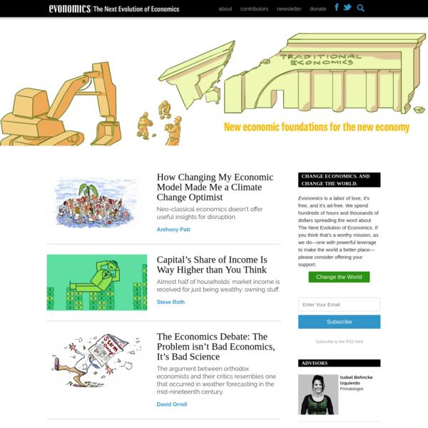 The Next Evolution of Economics - Evonomics