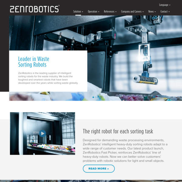 Save time and money with robotic waste separation. ZenRobotics Recycler sorts waste efficiently and accurately. - get yours today!