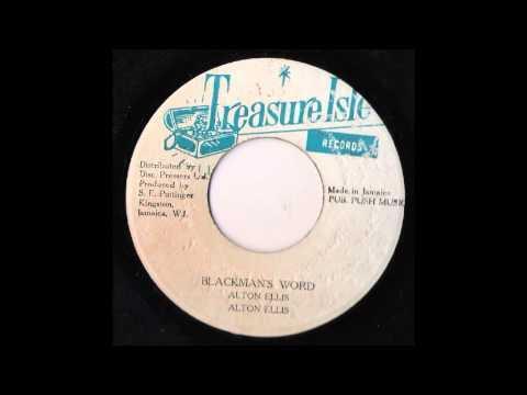 Alton Ellis - Blackman's Word - The Supersonics - Version