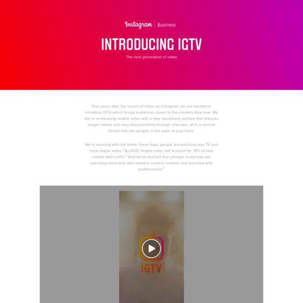 See how you can get closer to your audience with longer vertical videos on Instagram.