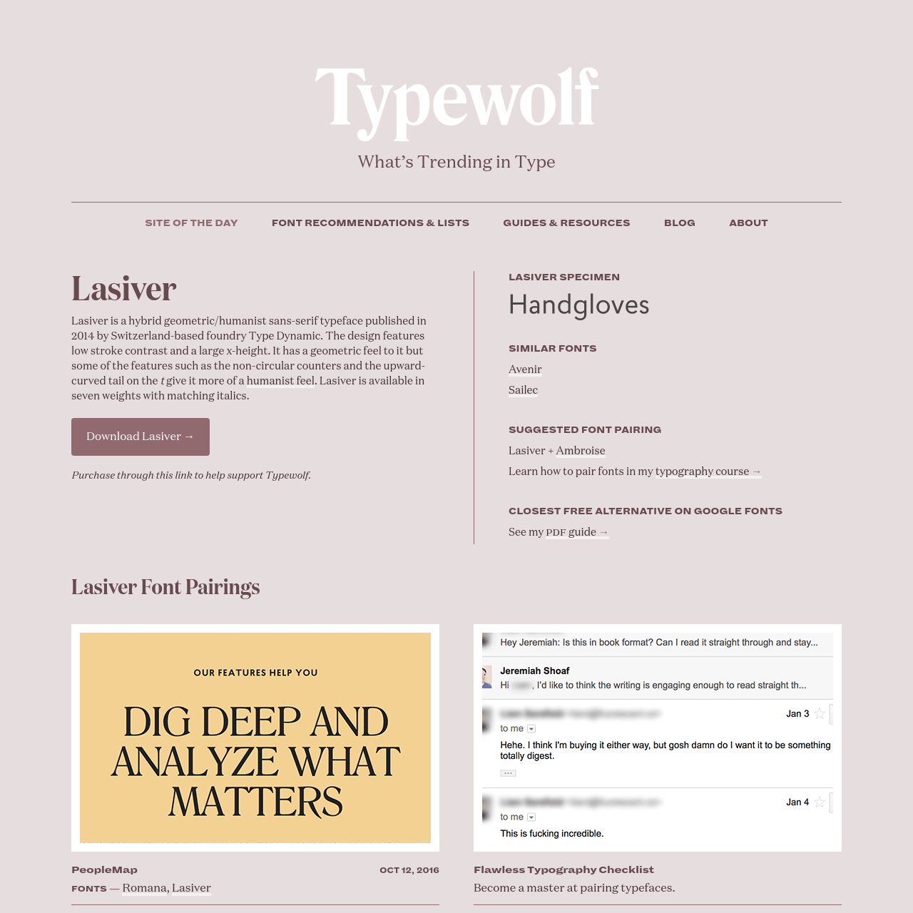 Are na / Lasiver Font Combinations & Free Alternatives