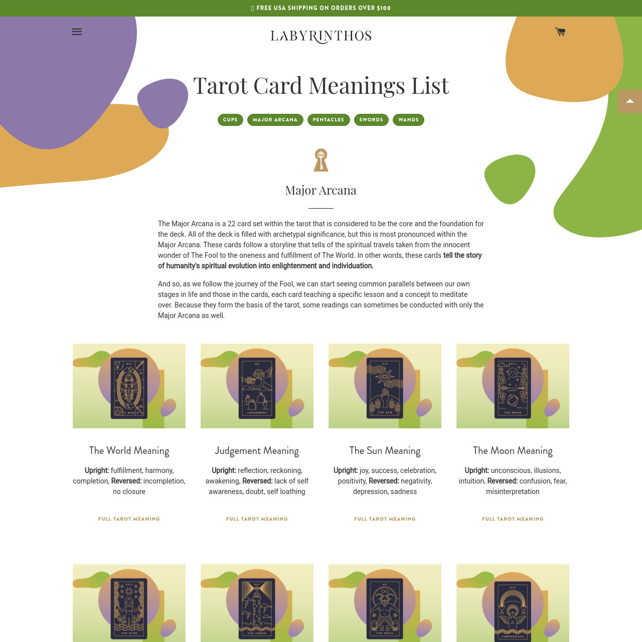Are na / Tarot Card Meanings List - 78 Cards By Suit, Element, and