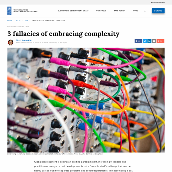 3 fallacies of embracing complexity | UNDP