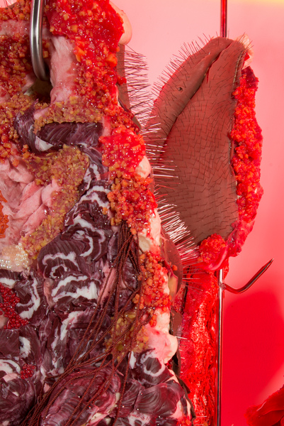 2018.06 Doreen Garner: Art Basel, CH, Red Rack of those Ravaged and Unconsenting (detail), 2018