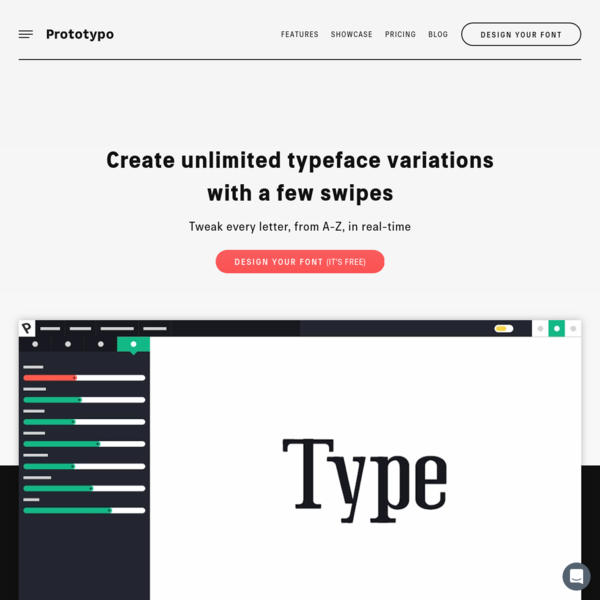 Prototypo   Design custom fonts that perfectly fit your needs