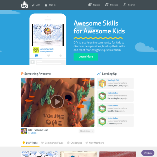 Kids Learning Skills and Being Awesome. - DIY